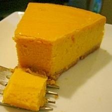濃厚なかぼちゃのチーズケーキ