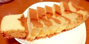 パウンドケーキ型でできる!ふわふわシフォンケーキ♪