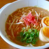 ❤ 煮卵&紅ショウガ入り味噌ラーメン ❤