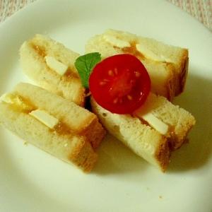 【お手伝いレシピ】クリームチーズと梅ジャムのサンド