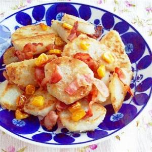 里芋とベーコン・コーンの炒めもの