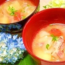 減塩☆菜園風トマトのお味噌汁