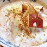 ミルクココアヨーグルト with りんご