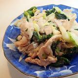 豚ロースと白菜とほうれん草の味ぽん炒め