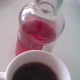 カキ氷のシロップでフレーバーコーヒー