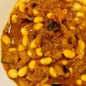 大豆とナスのカレー