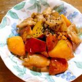 薩摩芋と鶏肉の甘酸炒め