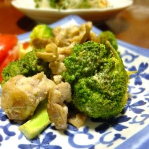 ブロッコリと豚バラの辛子マヨネーズ炒め