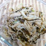 大根の葉と皮、えのき、豚肉の塩昆布炒め