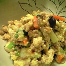 冷凍保存後の木綿豆腐は炒り豆腐で!