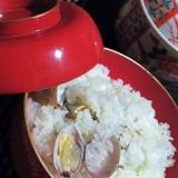 炊飯器で簡単、潮汁風あさりご飯