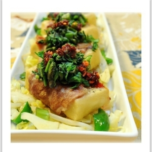 高野豆腐の豚肉巻きステーキ