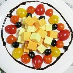 チーズと彩いろミニトマトのカクテル♪