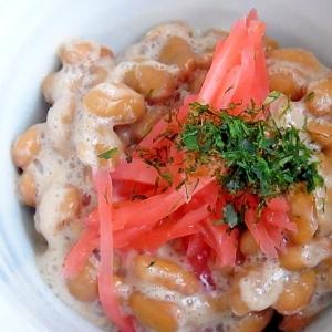 ママのお昼ご飯 生姜納豆