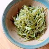 茎ワカメ&キュウリのナムル風サラダ
