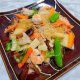 春野菜の焼きビーフン