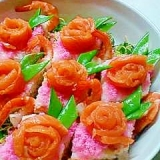菱餅の様なお寿司