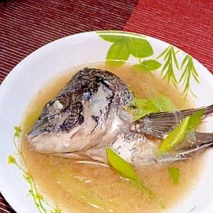 鯛の兜で味噌汁