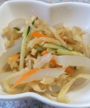 切り干し大根とこんにゃくの中華サラダ
