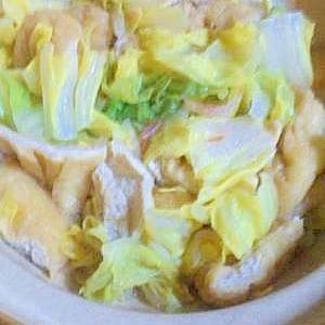 やさしい味!白菜とお揚げの小海老風味煮