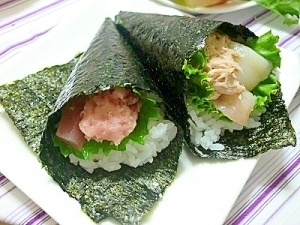 手巻き寿司*キレイにできる巻き方