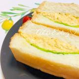 ♡忙しいパパさんママさんに♪簡単たっぷり卵サンド♡