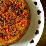 白花豆とレンズ豆のピーナッツクリームケーキ