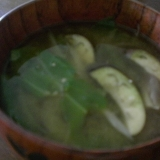 茄子とキャベツの味噌汁