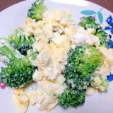 栄養満点☆ブロッコリーと卵のカッテージチーズサラダ