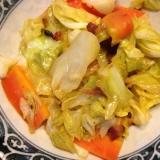 照り焼きチキン入り野菜炒め。