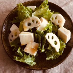 れんこんと豆腐の中華サラダ