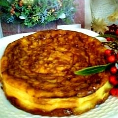 混ぜて焼くノンオイルのキャラメルヨーグルトケーキ♪