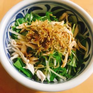 カリカリしらすと大根と水菜のポン酢サラダ