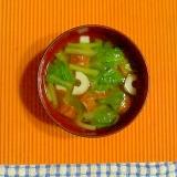 小松菜と竹輪の味噌汁♪