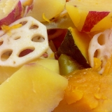 レンコン薩摩芋かぼちゃの煮物
