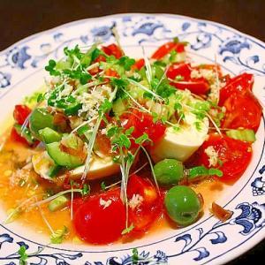 モッツァレラとトマトのサラダ*山わさび風味