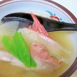 料亭風の汁物☆ 「金目鯛アラ汁」