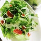干し柿とレタスと玉ねぎのウェイトダウンサラダ
