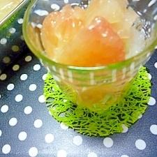 子供のおやつ◆果肉たっぷりグレープフルーツゼリー
