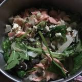 秋を味わう♪シャケと豆腐のエリンギサラダ
