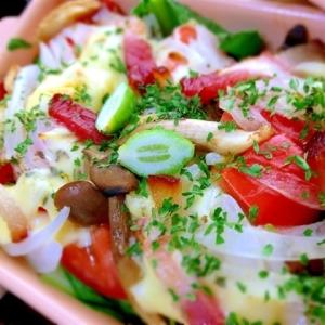 トマトと小松菜のシチリア風オーブン焼き
