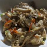 舞茸の炒り豆腐