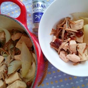 減塩・減糖!玉ねぎと鶏と高野豆腐の煮物