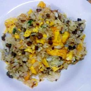 しじみの佃煮小ねぎ卵の焼き飯