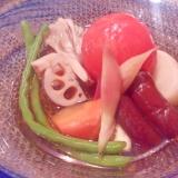 白だしで!!夏野菜の冷おでん