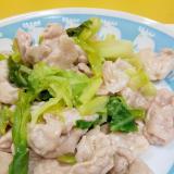 子供が喜ぶ(^^)肉とキャベツの鶏ガラ塩炒め♪
