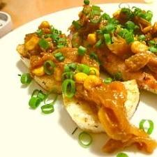鮭と長芋の香ばしソテー