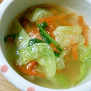 レタスと切り干し大根のスープ