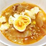 白菜と大根のスンドゥブ(キムチ鍋のもと使用)