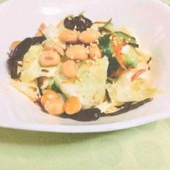 キャベツと豆のかみかみサラダ